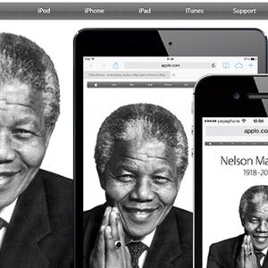 homenatge Nelson Mandela Apple