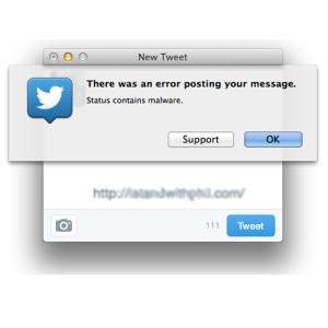 tweets con un estado de error